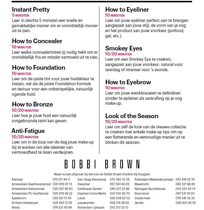 Bobbi brown make up les 1 - Tip!   Gratis Bobbi Brown make-up & skincare les
