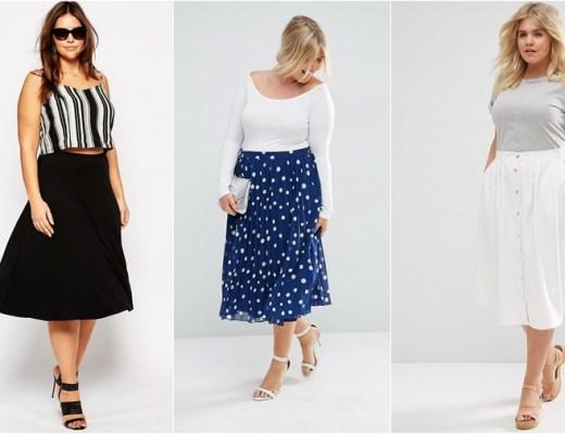 plussize midi skirts