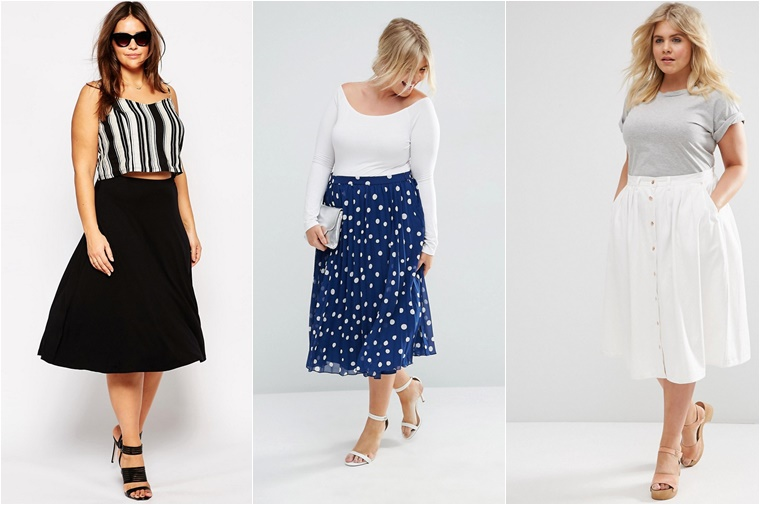 plussize midi skirts 2 - Plussize fashion | De midi skirt