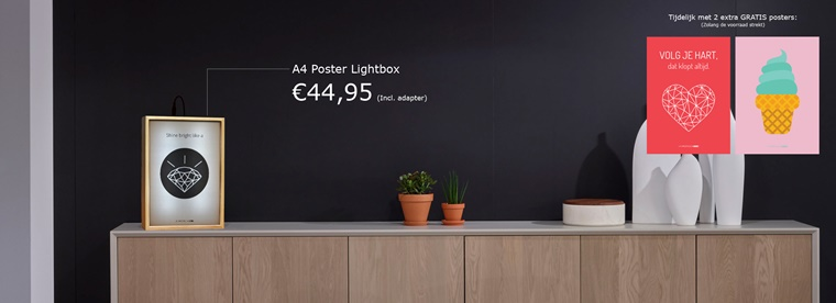 lifestyle heroes lightbox 2 - Interieur musthave | A4 Lightbox van Lifestyle Heroes!