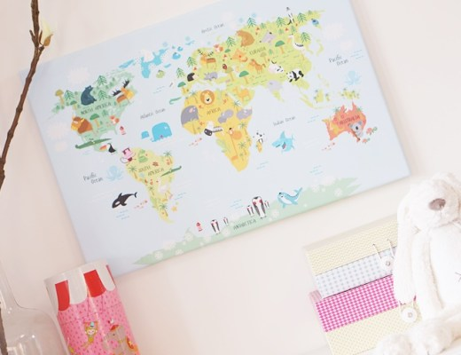 wereldkaarten dieren 1 - Kids Tip | Wereldkaart met dieren
