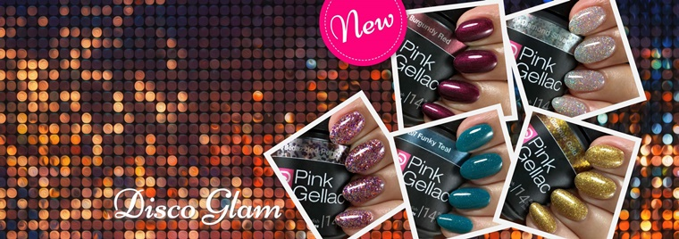 pink gellac disco glam 1 - Pink Gellac Disco Glam (party collectie)