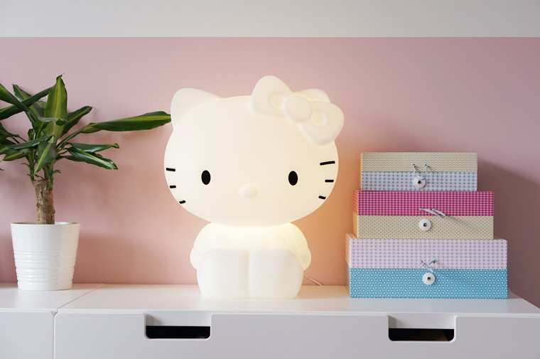 hello kitty lamp 3 - Kids Talk | Hello Kitty designlamp voor op de kinderkamer