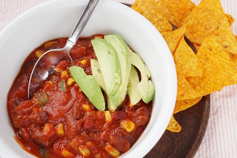 chili sin carne recept