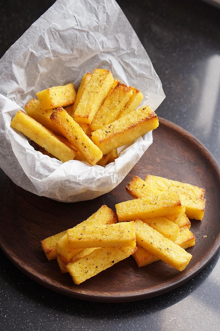polenta frietjes knoflook recept 6 - Polenta frietjes met knoflook