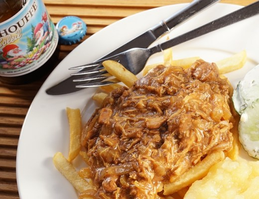 zoervleisch met kip recept