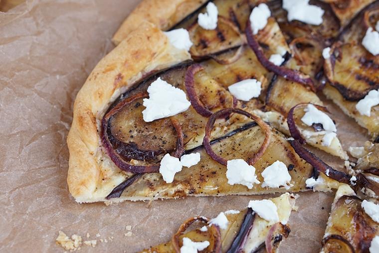 plaattaart aubergine geitenkaas recept 3 - Plaattaart met aubergine en geitenkaas