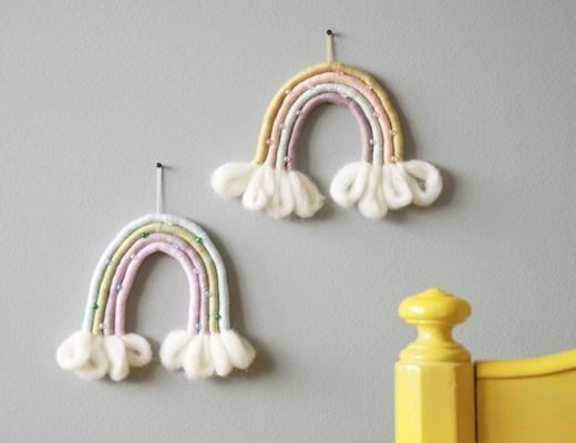 regenboog van touw maken diy