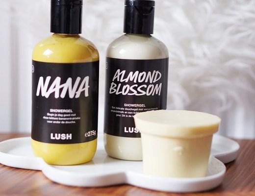 Lush lente 2020 (nana, almond blossom, ro's argan naked)