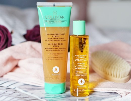 collistar precious body scrub & collistar precious body oil