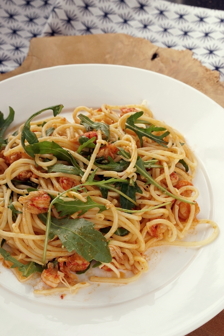 spaghetti rivierkreeftjes rosé recept 4 - Recept | Spaghetti met rivierkreeftjes en rosé
