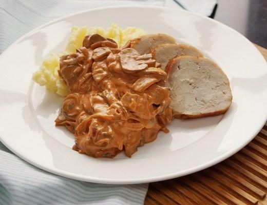 paddenstoelen stroganoff recept (BK pannen voor inductie)