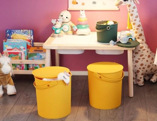 make-over speelhoekje kinderen (Omnioutil bucket/emmer)