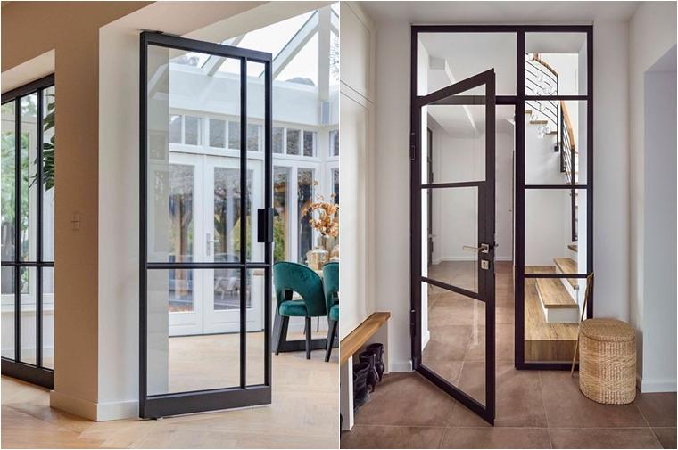 ruimtelijk interieur binnendeur met glas staal 1 - Home | 3x Een ruimtelijk interieur creëren (zoals met een glazen binnendeur)