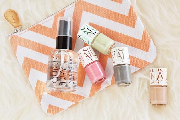 HM HM mini nagellak nail polish quick dry spray review swatches 1 - H&M mini nagellakjes & quick dry spray