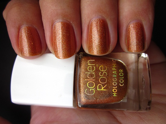NOTD GR Holo 111 1 - Golden Rose holographic color 106 & 111