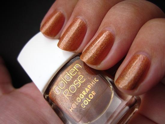 NOTD GR Holo 111 2 - Golden Rose holographic color 106 & 111