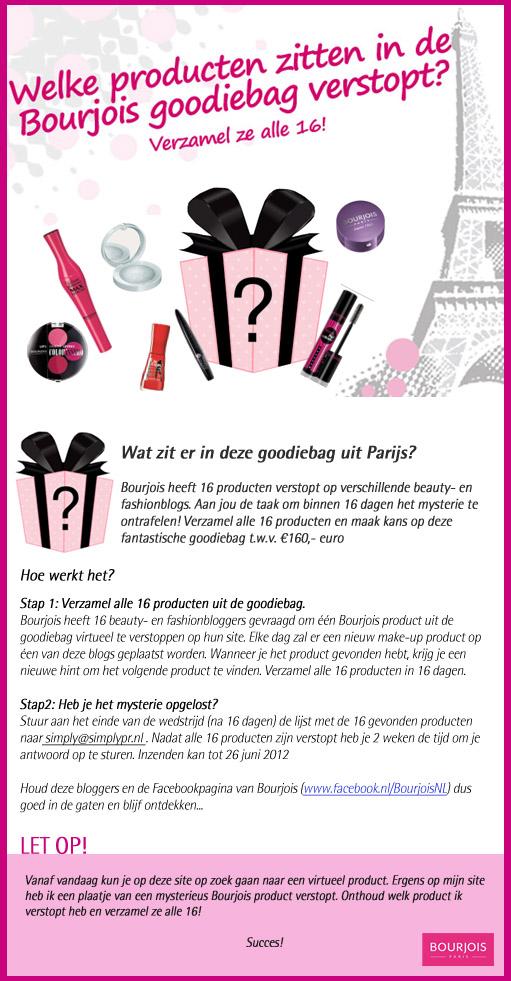 Spelregels - Spelregels Bourjois winactie voor een goodiebag t.w.v. €160,00!