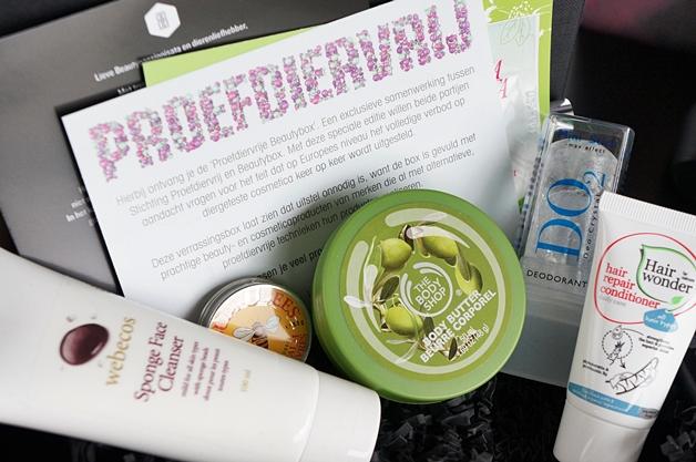 De proefdiervrije Beautybox van september 2012