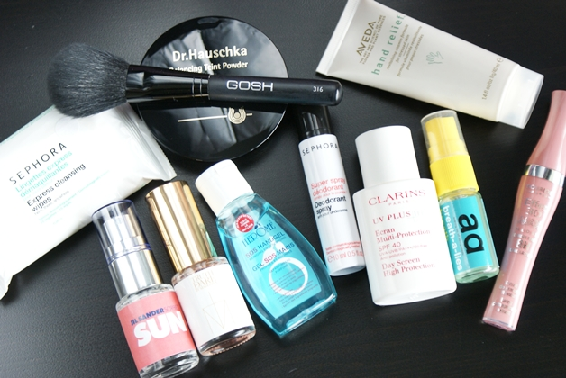 Beautyproducten in mijn handtas