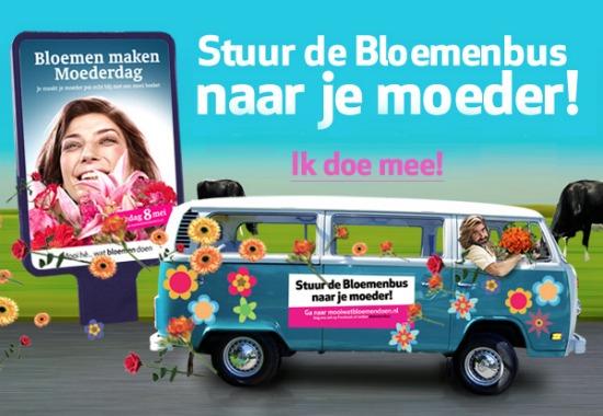 bloemenbus 1 - Verras je moeder met een gratis bloemetje!