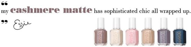 essie cashmere matte review swatches 11 - Love it! | essie cashmere matte collectie