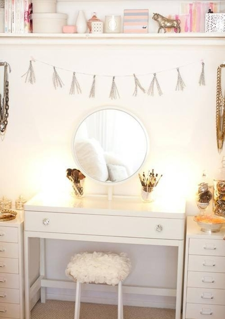 interieur make up hoekjes 5 - Interieur inspiratie | Make-up hoekjes