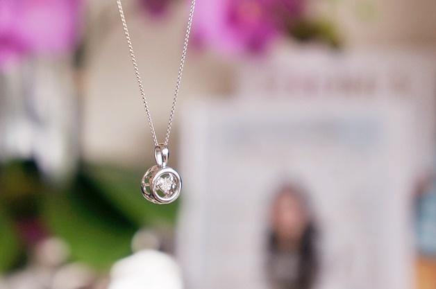 lucardi silver diamond ketting 2 - Lucardi Silver & Diamond dancing diamonds ketting