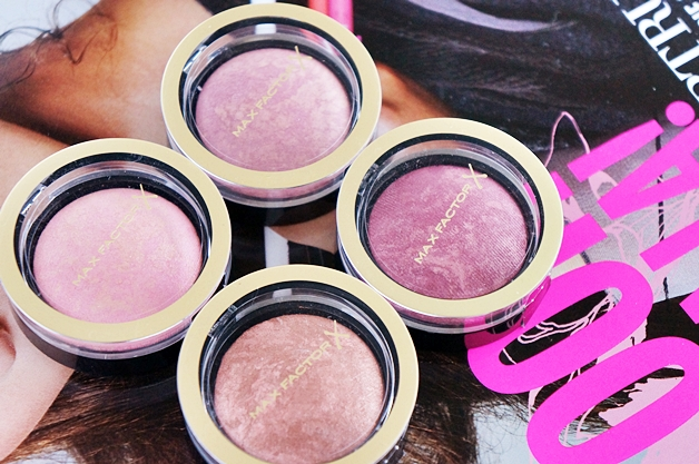 max factor creme puff blush review swatches 1 - Max Factor crème puff blushes