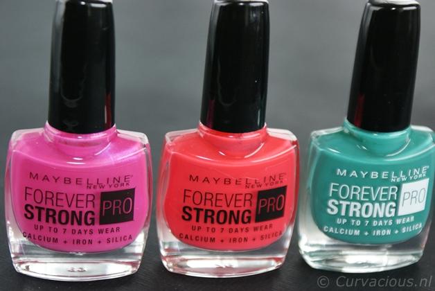 Maybelline Forever Strong Pro | Hyper Jade, Bubble Gum & Hot Salsa