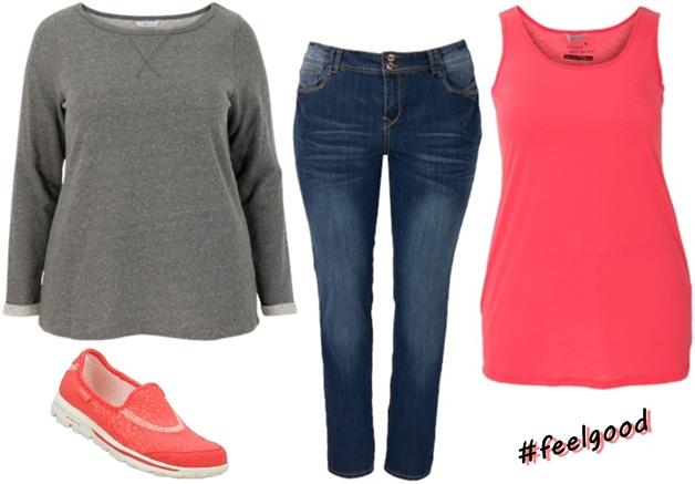 miss etam skechers mei 2014 1 - Plussize outfit | A touch of neon
