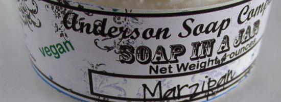 prettyplease1small - Anderson Soap Company - soap in a jar: Marzipan