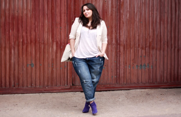 sakina jeans rasgado - Plussize inspiratie | Destroyed/ripped jeans