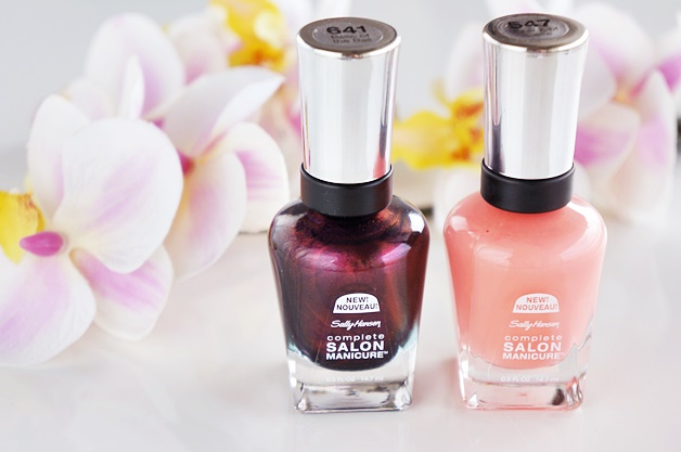 sally hansen complete salon manicure peach of cake belle of the ball review swatches 1 - Sally Hansen | Peach of Cake & Belle of the Ball