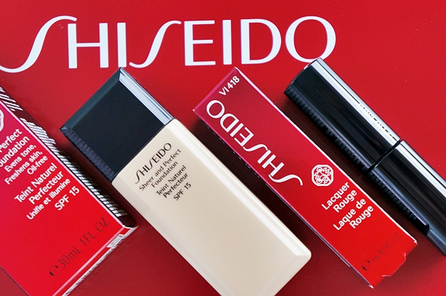 shiseido sheer and perfect foundation lacquer rouge 1 - Shiseido sheer and perfect foundation & lacquer rouge