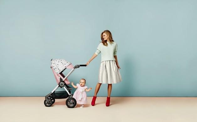 stokke scoot v2 soft pink soft dots - Babytalk | De perfecte wagen voor meisjesmama's ♥