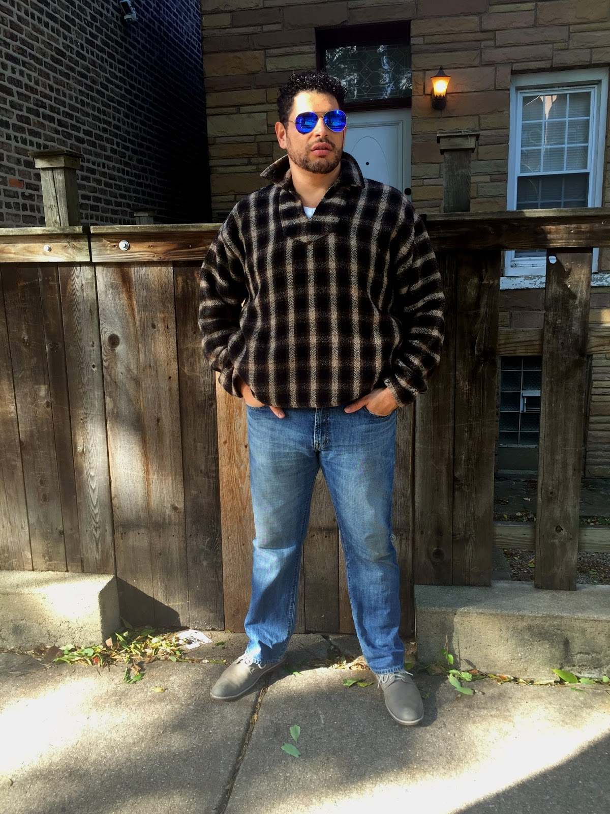What He Wore Big  Tall Baja Pullover Jacket  Gap Jeans