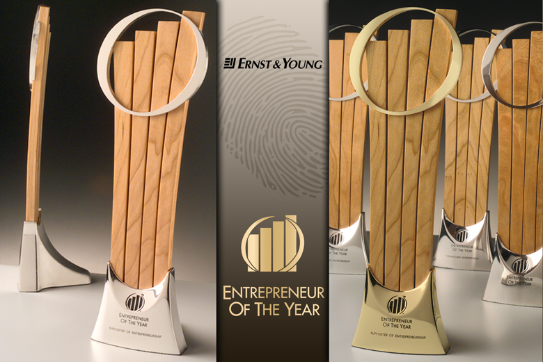 Trophy design for Ernst & Young's Entrepreneur of the Year Awards