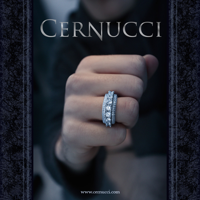 Cernucci poster featuring ring - identity by Curve Design Lyd