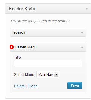 Custom Menu Widget