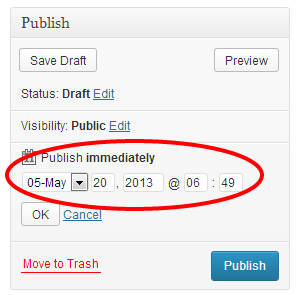 Set Scheduled Time and click OK