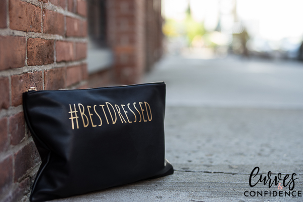 hashtag quote clutch, black clutch, clutch with hastag, curves and confidence_