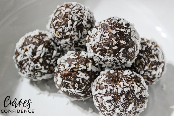 Curves and Confidence- Almond Joy Energy Balls