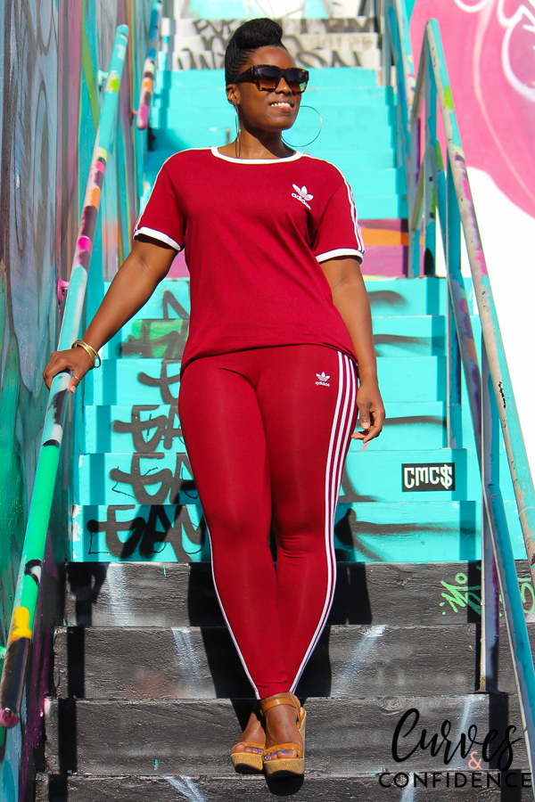 undefeated x size 7 sports shoes Weekend Wear: Adidas Originals 3-Stripes - Curves and Confidence