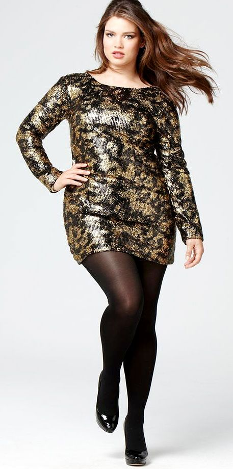 cheap plus size club dresses with sleeves - CurvyPlus