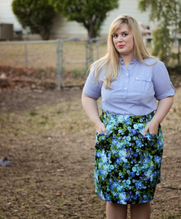 Blue Floral Peggy Skirt - BlueGingerDoll Patterns - Idle Fancy (62)