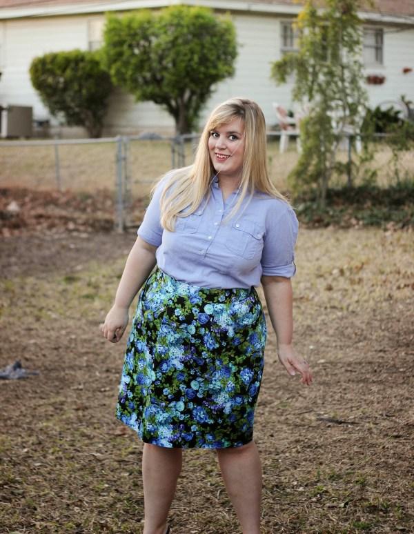 Blue Floral Peggy Skirt - BlueGingerDoll Patterns - Idle Fancy (8)