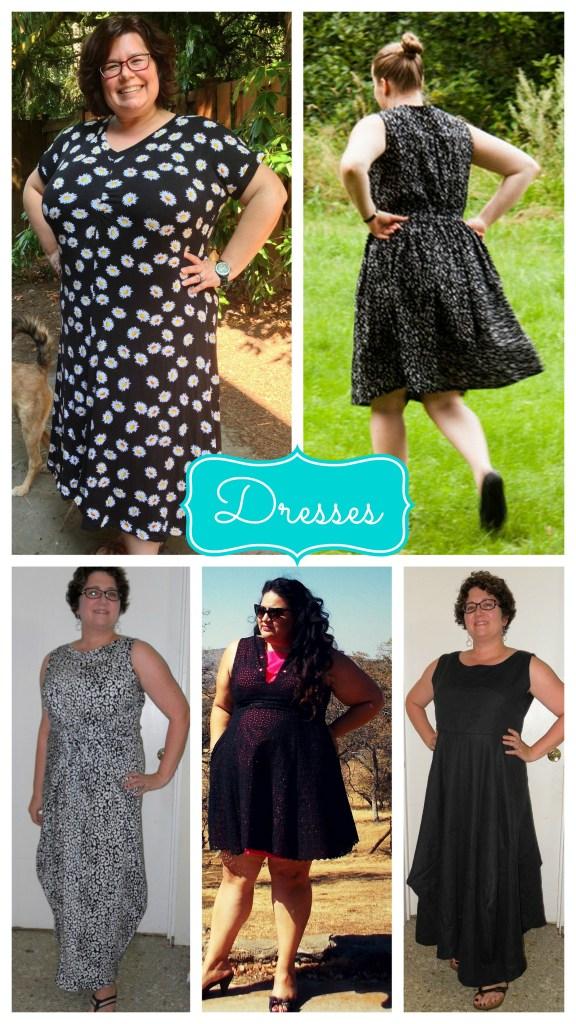 dress collage black grey