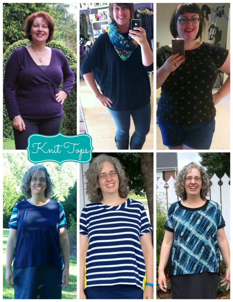 knit top collage
