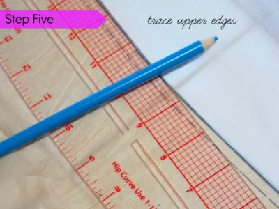 step 5 trace upper edges